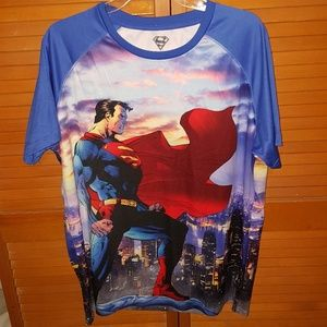 Superman Over The City Man Of Steel T Shirt